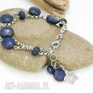 bransoletka lapis lazuli, bransoletka, lapis, stal, szlachetna, chirurgiczna