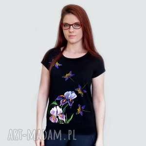 ręcznie wykonane bluzki koszulka bawełniana malowana