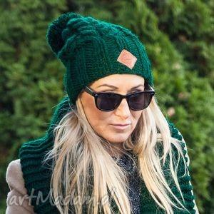 czapka endorfine 6, zima, włóczka, ocieplane, pompon, ciepła