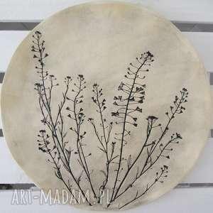 hand-made ceramika roślinna patera