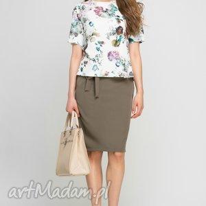 Bluzka, BLU135 kwiaty, biuro, bluzka, casual, wiosenna, pracy