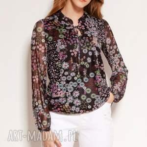 bluzka z siateczkowej tkaniny - blu150 wzór, letnia bluzka