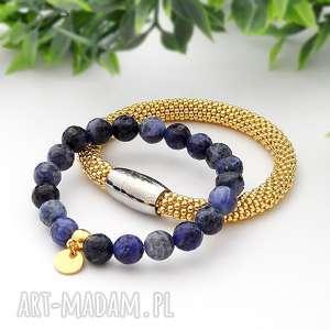 ręcznie robione bransoletki zestaw bransoletek elegance set - sodalit