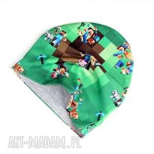 czapki minecraft czapka dla dziecka dwuustronna, czapka, dziecko, minecraft, gra