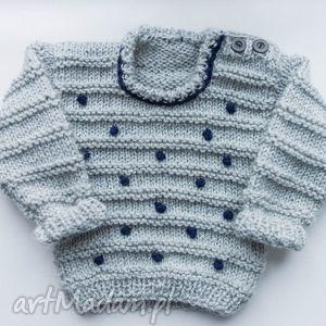 sweterek dziewczęcy dots 0-18 m, sweter, dziecięcy, niemowlęcy, wełniany