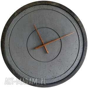 Duży zegar betonowy szary handmade designerski oryginalny