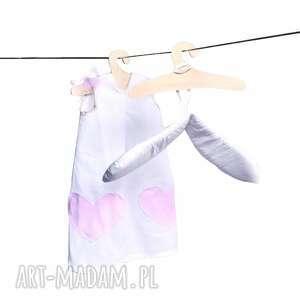 hand made lalki anielski outfit lali - skrzydła i sukienka