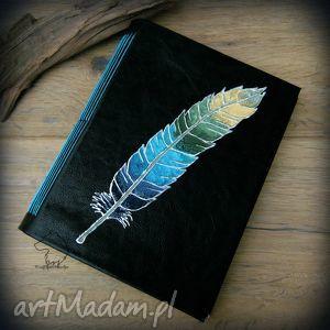 wolfpath studio notes a5 z twardą okładką imitacji skóry niebieskie pióro - ręcznie