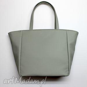 hand-made na ramię shopper bag worek - szary