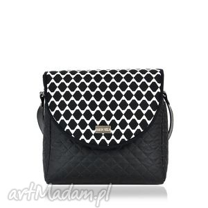 na ramię torebka puro 718 geometry 2, klapkomania, puro, geometry, czarna, biała