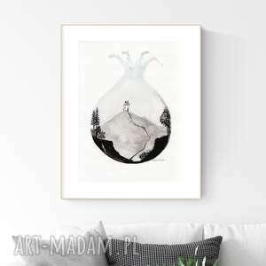 plakaty grafika 30x40 cm wykonana ręcznie, abstrakcja, obraz do salonu