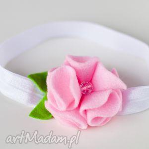 handmade dla dziecka opaska niemowlęca - różowe fale