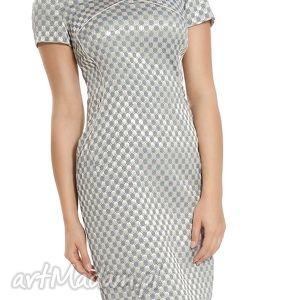 sukienka wizytowa z żakardu rozmiar 42, elegancka, wieczorowa