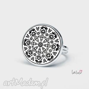 pierścionek klasyczna wycinanka, grafika, ludowa, ludowy, folk, etniczne