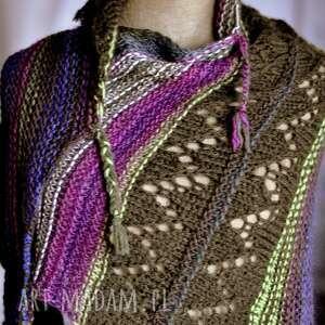 The Wool Art ażurowa chusta