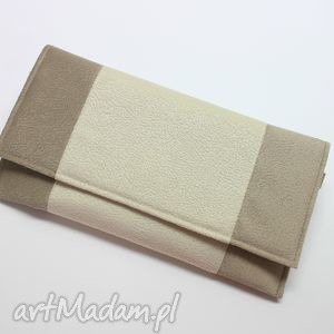 ręczne wykonanie kopertówka - beż i środek krem