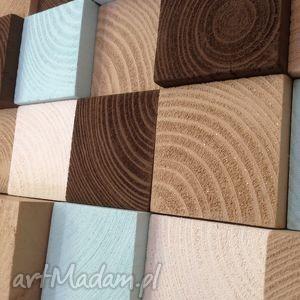 dom mozaika drewniana - na zamówienie, mozaika, ściana, drewniany, obraz