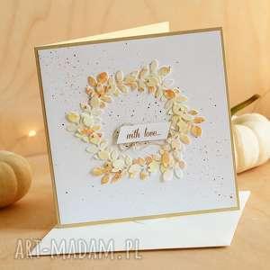 jesienna kartka na różne okazje, ślubna rocznicowa, urodzinowa, jesień