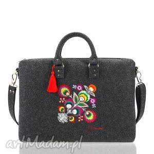 handmade torba filcowa kwiat łowicki 300