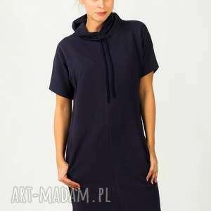 sukienka irmina 4, wygodna, modna, ciepła, golf, kieszenie, dresowa sukienki