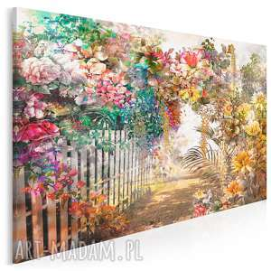 Obraz na płótnie - kwiaty ogród aleja 120x80 cm 79501 vaku dsgn