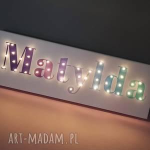 neon obraz led z imieniem ombre personalizowany napis lampa prezent dla chłopca
