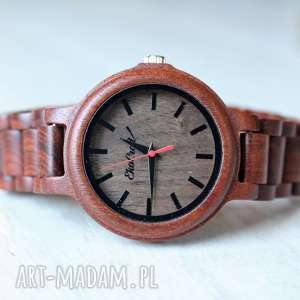 Damski drewniany zegarek seria FULL WOOD, zegarek, bransoleta, drewno,