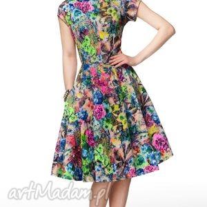 sukienki sukienka april midi aisza , sukienka, kiwatowa, elegancka, letnia