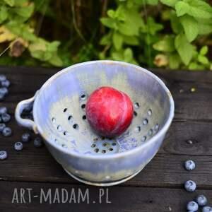 ceramika misa do serwowania umytych owoców / berry bowl niebiesko zielona
