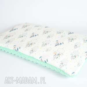ręczne wykonanie pokoik dziecka płaska poduszka minky - m. łapacze snów - 40x60 cm
