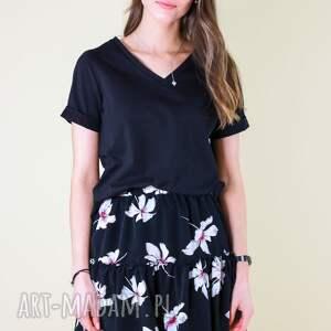 spódnice spódniczka w duże kwiaty na lato magnolia, letnia, spódnica
