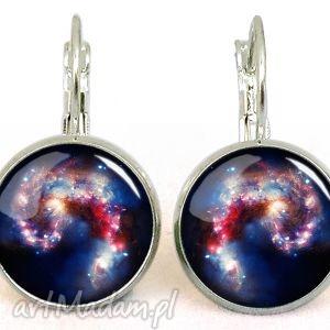 hand-made kolczyki nebula - małe kolczyki wiszące
