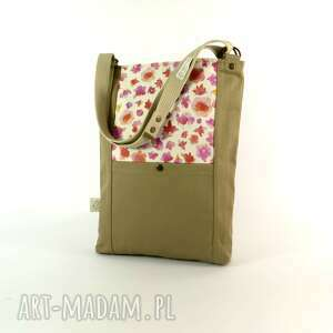 na ramię torba flowerlove no 1, shoper, kwiaty, damska, hippie, lato, nadruk