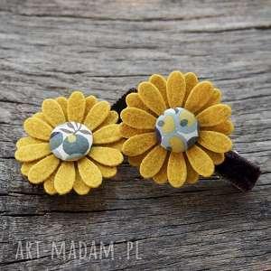 Spinki do włosów kwiatki JESIEŃ, kwiatki, filc, jesień, spinki