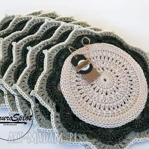 ręcznie zrobione podkładki szydełkowa wielokolorowa podkładka ze sznurka
