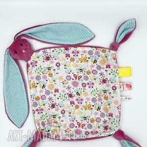 maskotki przytulanka królik dla niemowląt, kocyk, królik, sensoryczna, zając