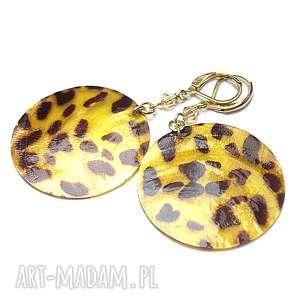 alloys collection -panterka /yellow/ -kolczyki, koła, masa perłowa, srebra