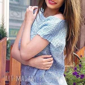 ręcznie wykonane bluzki cieniowana - niebieska