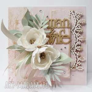 Ślubna kartka w pudełku, ślub, rocznica, gratulacje, życzenia