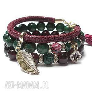 burgund green vol 3 01 12 16 - set, marmur, jaspisy, skóra, rzemień, chwost