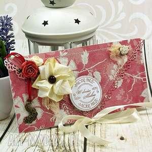 Kartka z okazji ślubu-czerwcowa winnica scrapbooking kartki