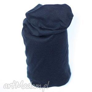 Czapka dresowa handmade unisex na podszewce czapki ruda klara