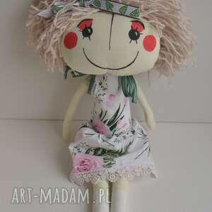 ręcznie szyta lalka anolinka - różowe lalki, prezent dla dziewczynki