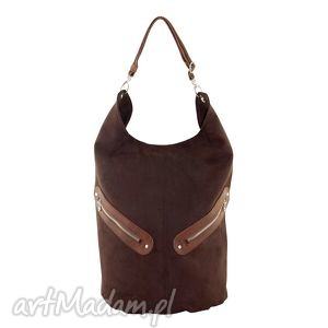 Kofi - duża torba worek czekolada na ramię incat worek, pojemna