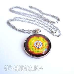 naszyjniki medalion, naszyjnik - mandala, shree yantra, naszyjnik, wisiorek
