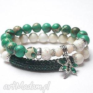 bransoletki dragonfly emerald ivory 16 02 17 - duo, muszla, jaspisy, shamballa