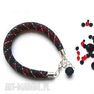 molicka iskrząca bransoletka stardust w czerni i czerwieni, stardust, kryształki