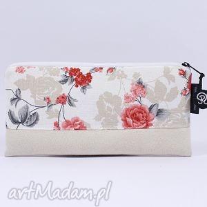 piórnik flowers 01, piórnik, róże, schowek, szkoła, prezent, kosmetyczka