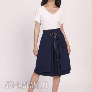ręcznie wykonane spódnice elegancka spódnica z efektownym wiązaniem przodu sp123