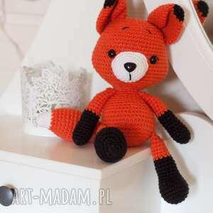 oryginalny prezent, lisek lucek, lis, fox, szydełko, lisek, przytulanka